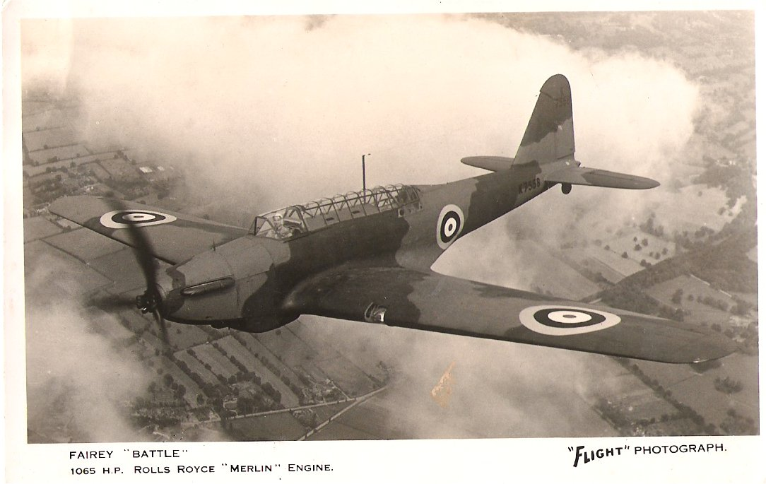 Fairey Battle 1065 HP Rolls Royce Merline Engine