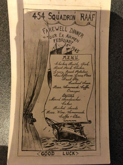 454 Sqn Farewell dinner Feb 1945