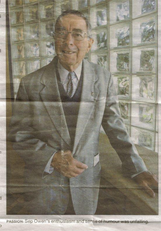 Sep Owen article 2006 newspaper