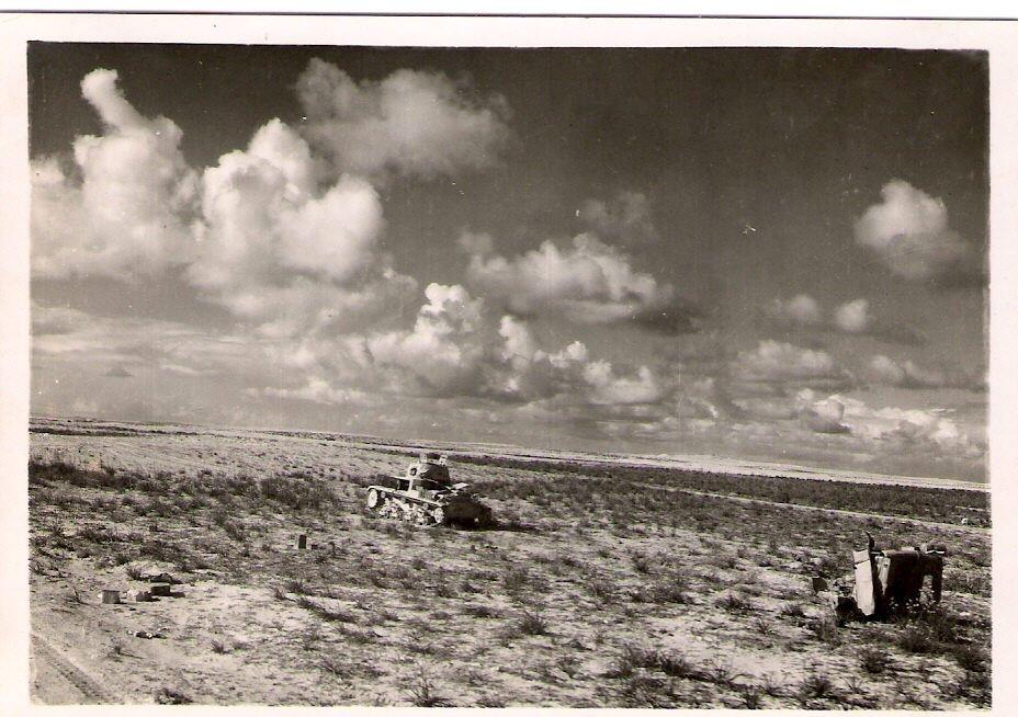 Remains of german tank on el alamain front