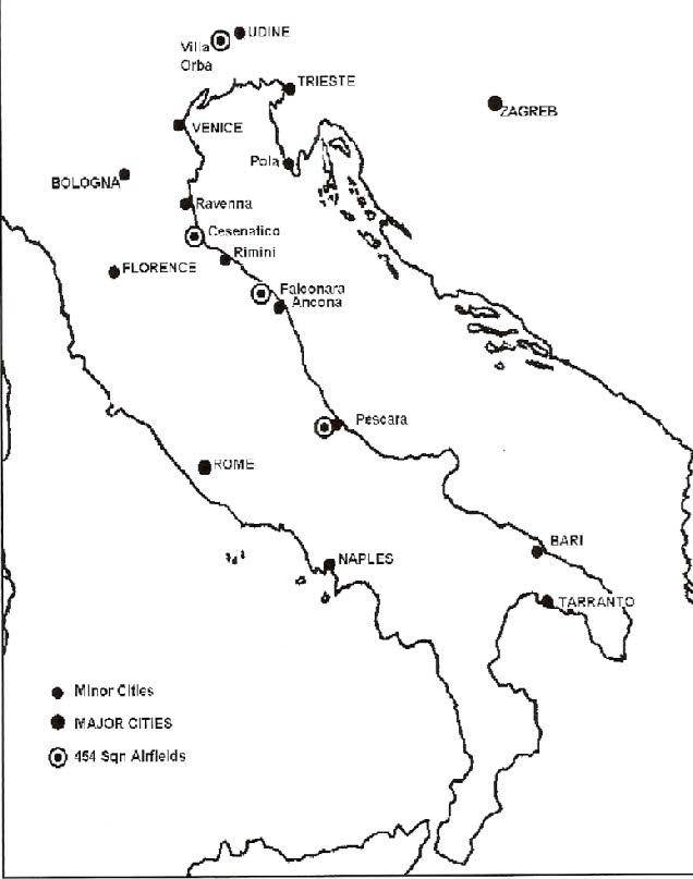 Italian Bases 454 Squadron Airfields
