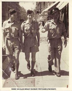 Rome 1945 Alan far right