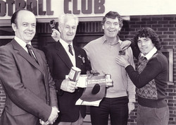 British Legion Award with Lawrie McMenemy & Kevin Keegan