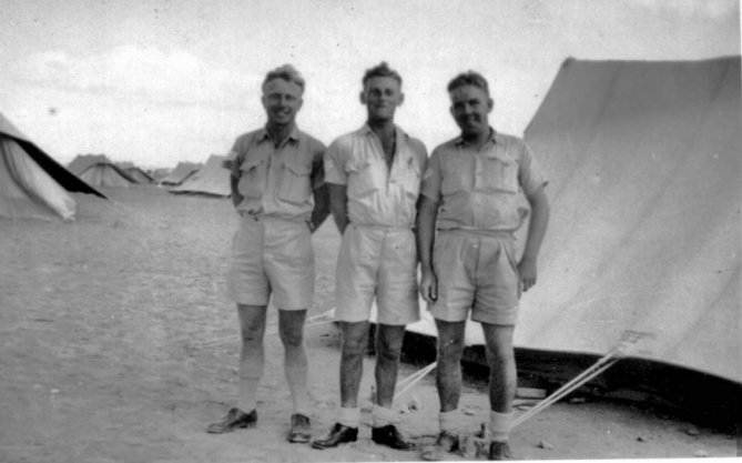 3 ground staff members No 3 Sqdn RAAF Oct 42