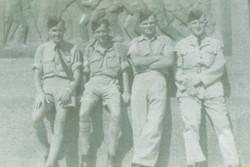 Air crew with Bert Lee