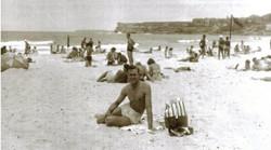 Oil silk bathers NG Bondi Beach 1947