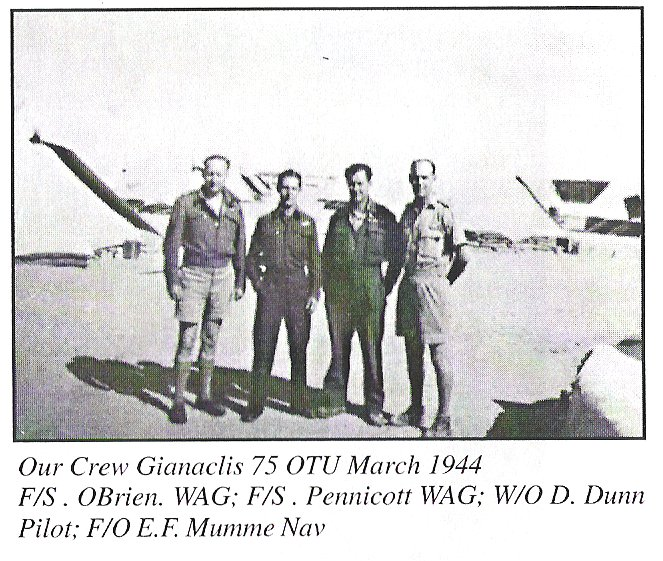 Our crew Gianaclis 75 OTU March 1944
