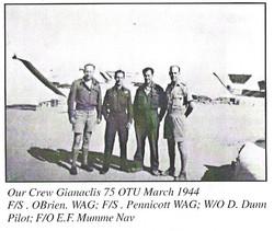 Our crew Gianaclis 75 OTU March 1944