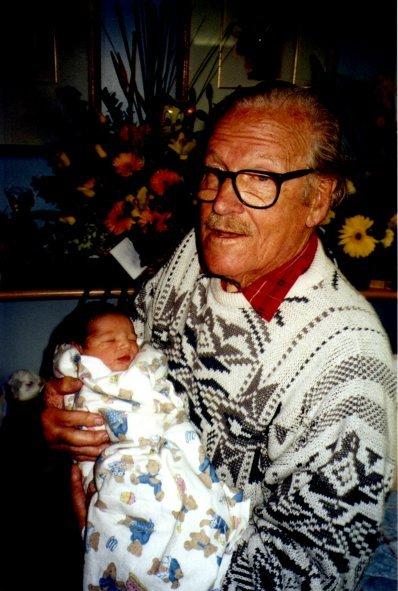 Pa and Matthew at birth