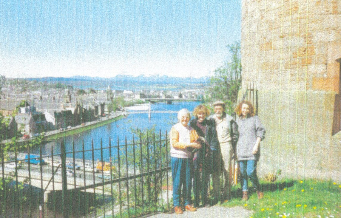 K & M & 2 of their 4 daughters - Mary and Trish - Inverness 1990