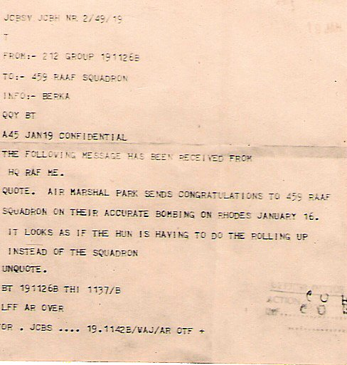 459 Telegram from Air Marshal