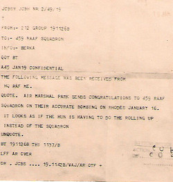 459 Telegram from Air Marshal