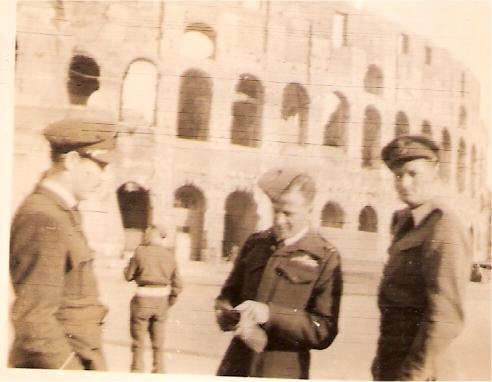 Bob Norman and Joe outside Coloseum
