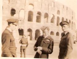 Bob Norman and Joe outside Coloseum