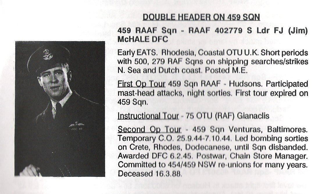 S Ldr FJ (Jim) McHale DFC