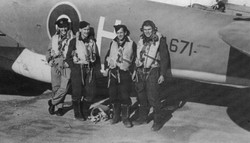 S Brown crew next to plane
