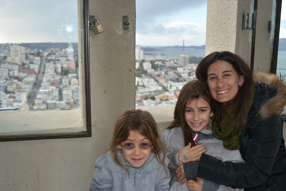 At the top of Coit Tower