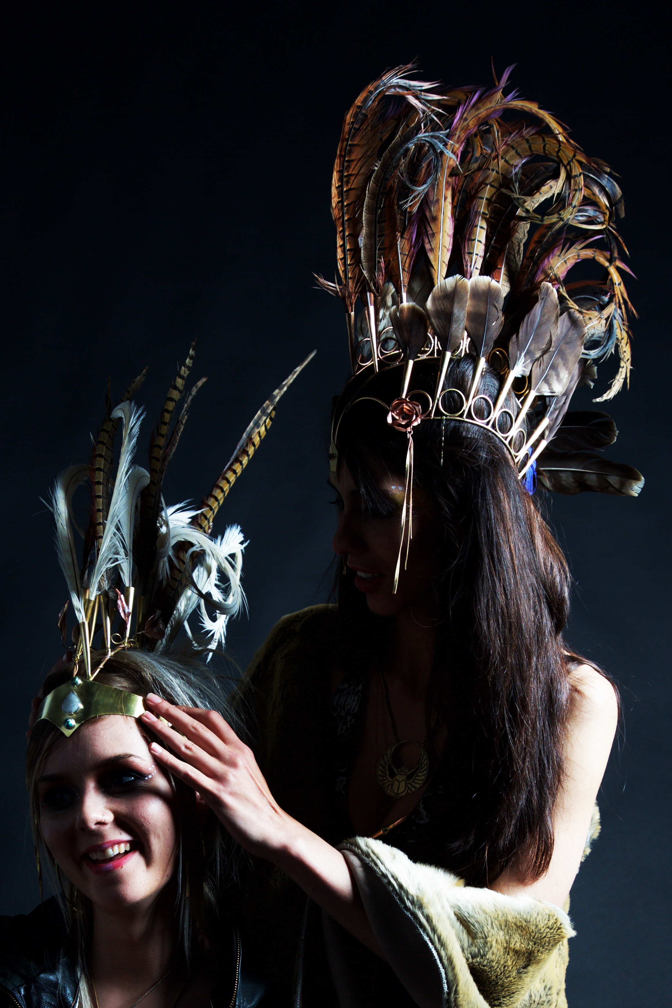 feather headdresses by organik mechanik, organik mechanik