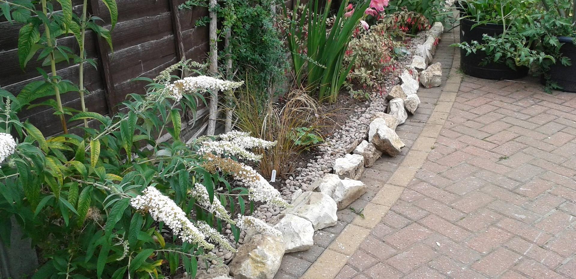 Front garden drainage/irrigation in progress