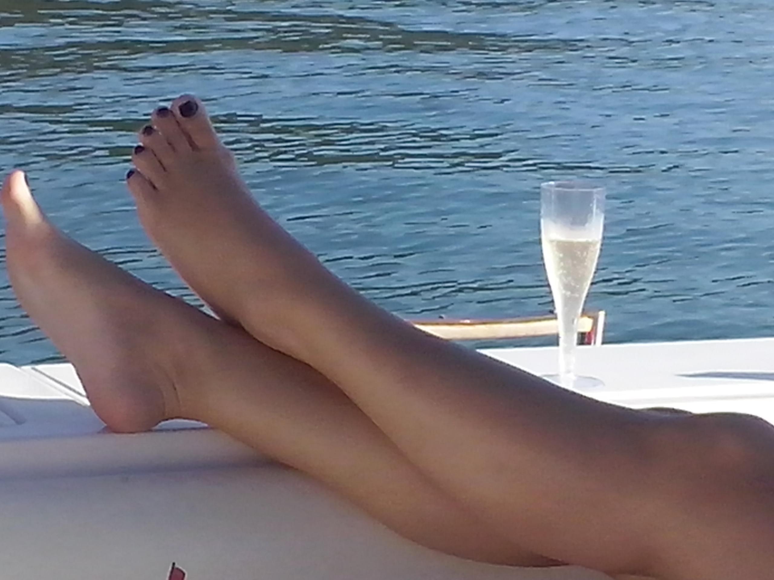 Relaxando a bordo