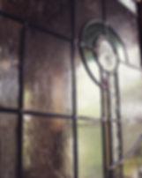 ORDER PANEL _ 住宅_リビングドアに施工したオーダーステンドグラスパ