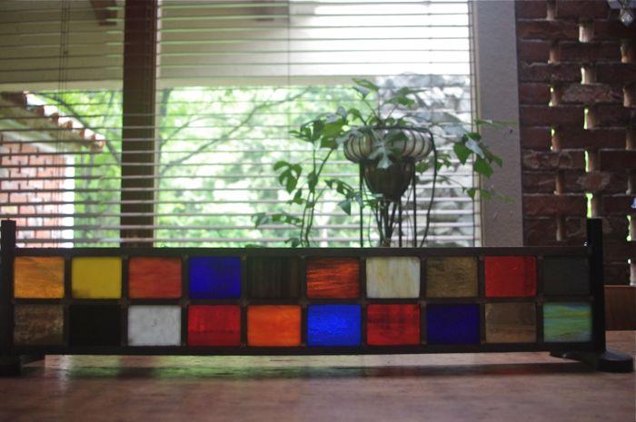 カラフルブロックステンドグラス