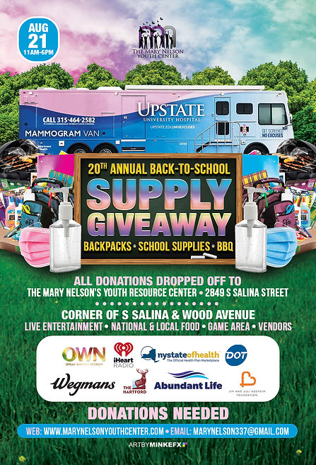 20TH ANNUAL SCHOOL SUPPLY GIVE AWAY ANNU