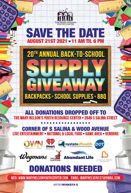 20th ANNUAL SCHOOL SUPPLY GIVE AWAY SAVE