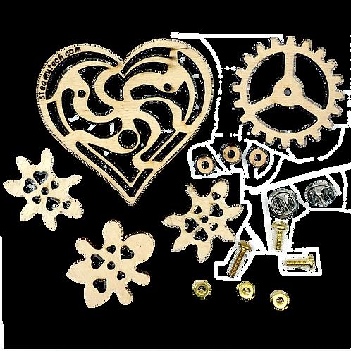 Imaginary Gear Heart Pin Kit