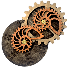 Stained Nautilus Gear Pin