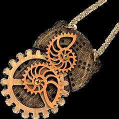 Stained Nautilus Pendant