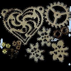 Imaginary Gear Heart Pendant Kit