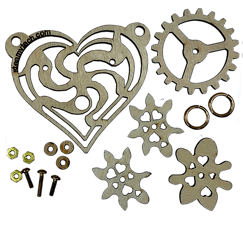 Imaginary Gear Heart Pendant Kit