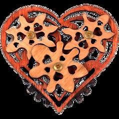 Imaginary Gear Heart Pin