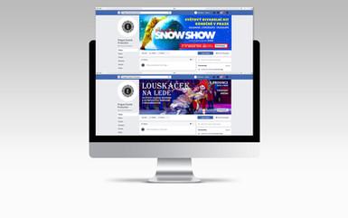 Pro eventovou agenturu Events production jsme připravili kampaně jejich představení Louskáček na ledě a Slava's Snowshow