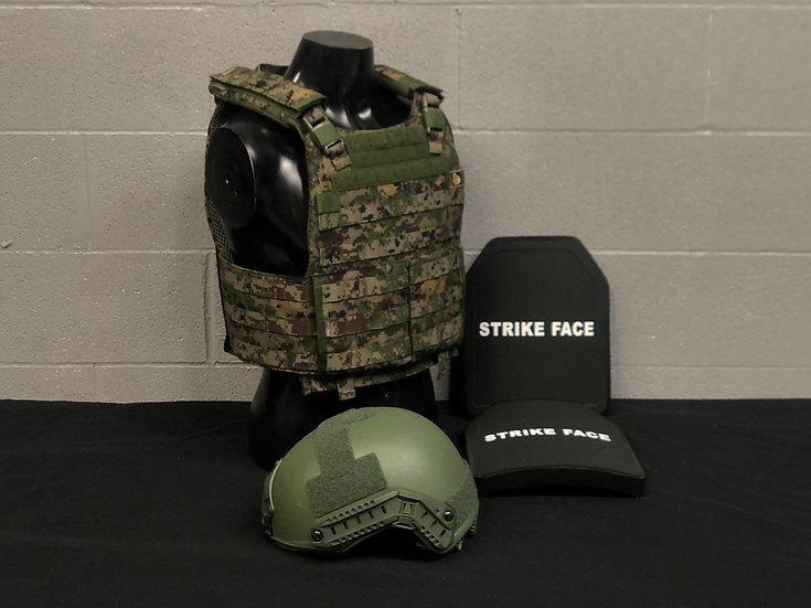 THORAX, FAST Helmet and Ballistic Plates Package