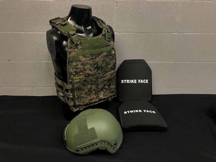 THORAX SKELETON, FAST Helmet and Ballistic Plates Package