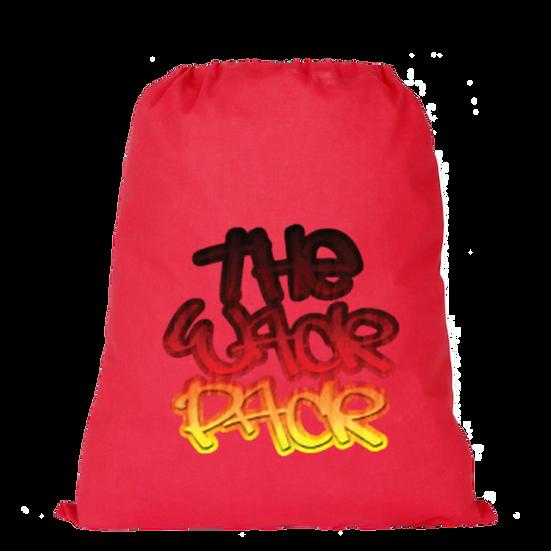 Graffiti Logo - Red Drawstring Bag