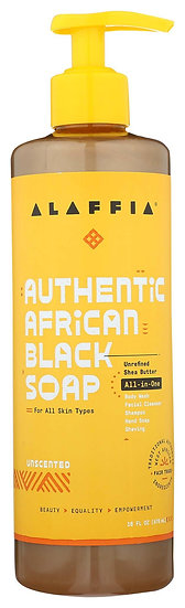 Authentic African Black Soap All-In-One 16 oz