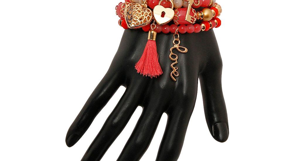 Love Charm Bracelet Set
