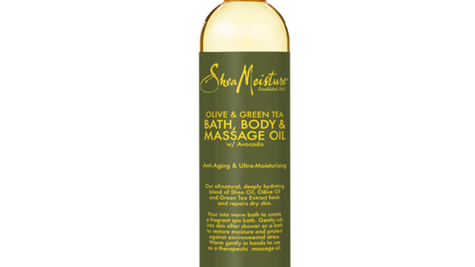 Olive & Green Tea Bath, Body & Massage Oil