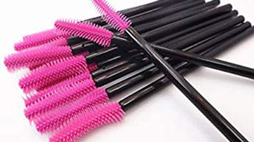 25 pk. Silicone Curved Mascara Wands