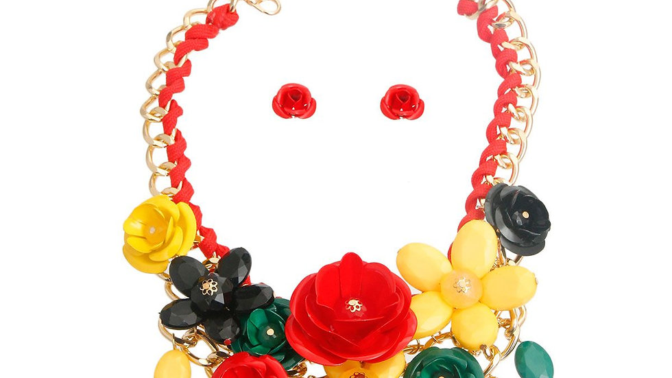 Red, Green, and Yellow Rose Set