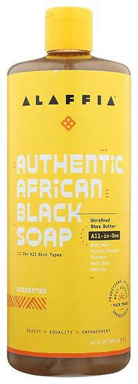 Authentic African Black Soap All-In-One 32 oz