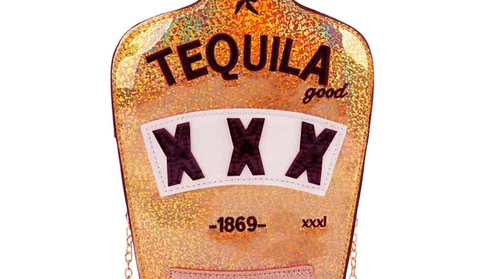 Shiny Tequila Bottle Clutch Bag