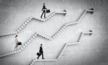 Up the career ladder . Mixed media.jpg
