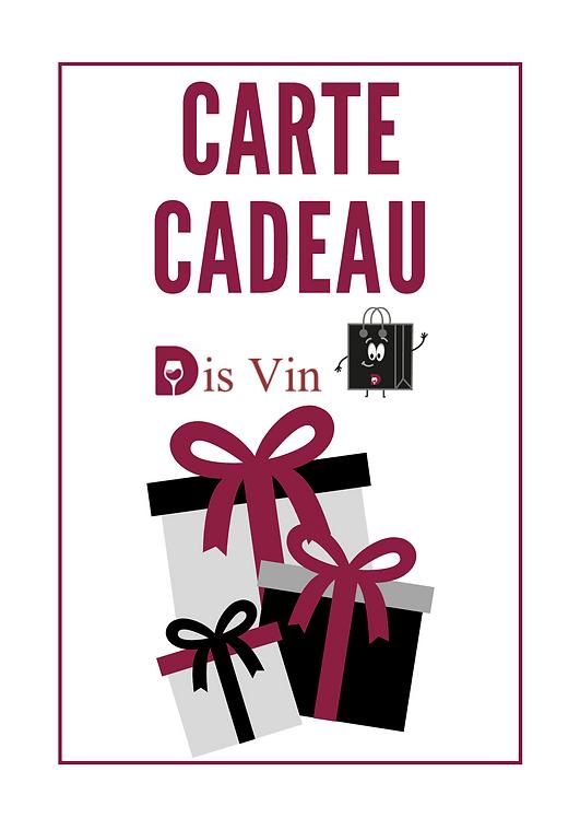 Carte Cadeau Dis Vin