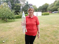 Sue Eldridge with  Rocket