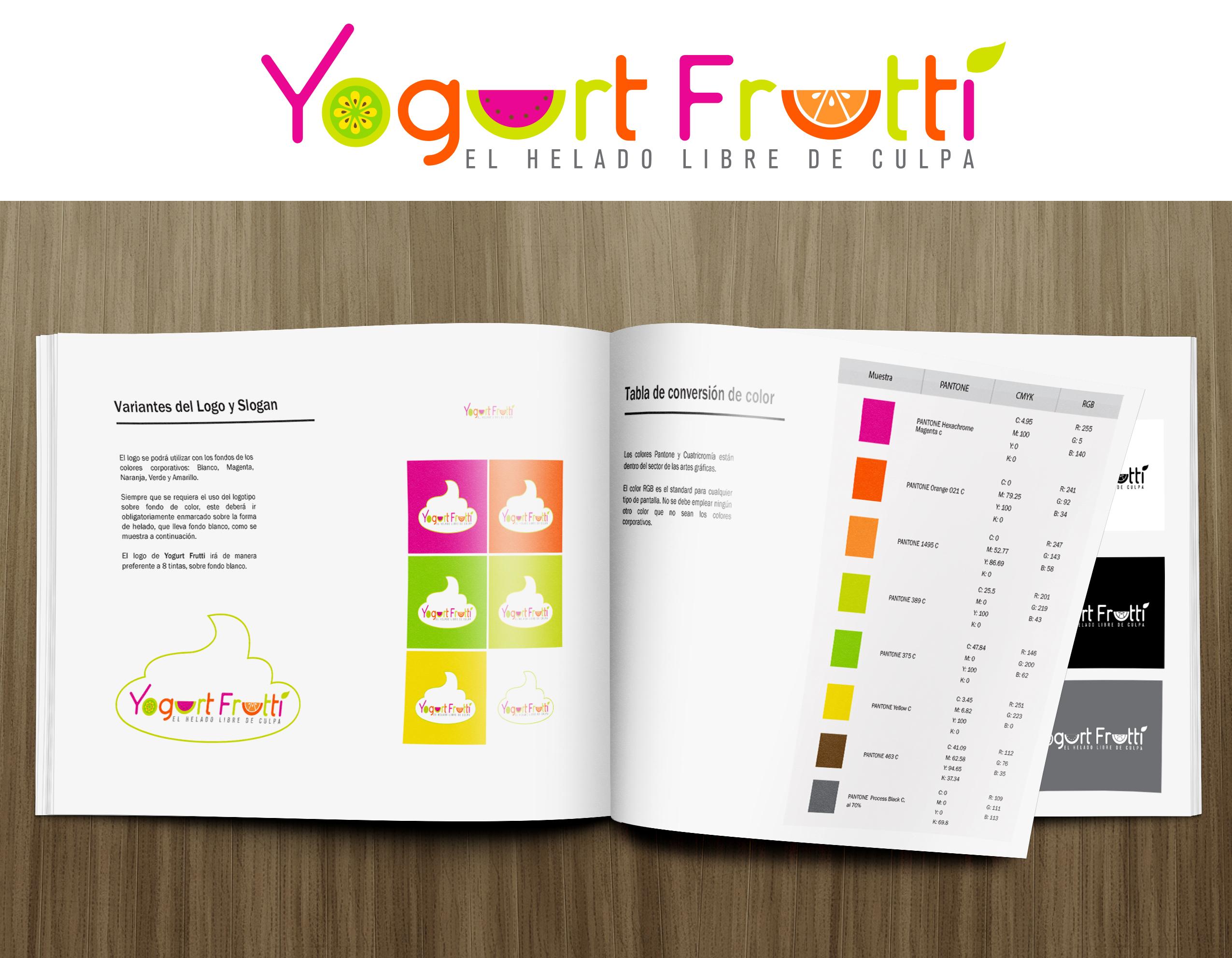 Manual de marca // Yogurt Frutti