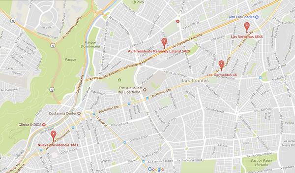 Mapa Rental Car Chile
